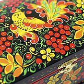 """Для дома и интерьера ручной работы. Ярмарка Мастеров - ручная работа Шкатулка """"Хохлома"""". Handmade."""