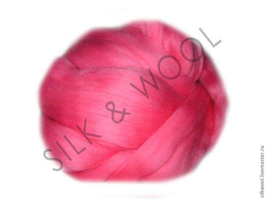 """Валяние ручной работы. Ярмарка Мастеров - ручная работа. Купить 100 г Цвет """"Розовый"""". Троицкая тонкая шерсть мериноса. Handmade."""