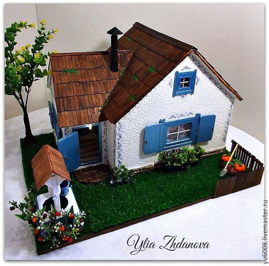 Кукольный дом ручной работы. Ярмарка Мастеров - ручная работа. Купить Избушка для Зайки. Миниатюрный кукольный домик.. Handmade. Разноцветный
