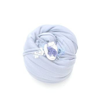 Работы для детей, ручной работы. Ярмарка Мастеров - ручная работа Обмотка + повязочка для фотосессии новорожденной сиреневая. Handmade.