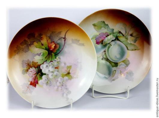 Винтажная посуда. Ярмарка Мастеров - ручная работа. Купить Старинные тарелки для фруктов, Бавария. Handmade. Коричневый, винтажный стиль