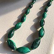 Винтаж handmade. Livemaster - original item Natural malachite beads, Europe. Handmade.