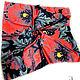 Дизайнер Анна Сердюкова (Дом Моды SEANNA).  Эффектный платок из шелка с авторским принтом  `Маки крупные на черном фоне`. Размер платка - 65х65 см.  Цена - 2400 руб.
