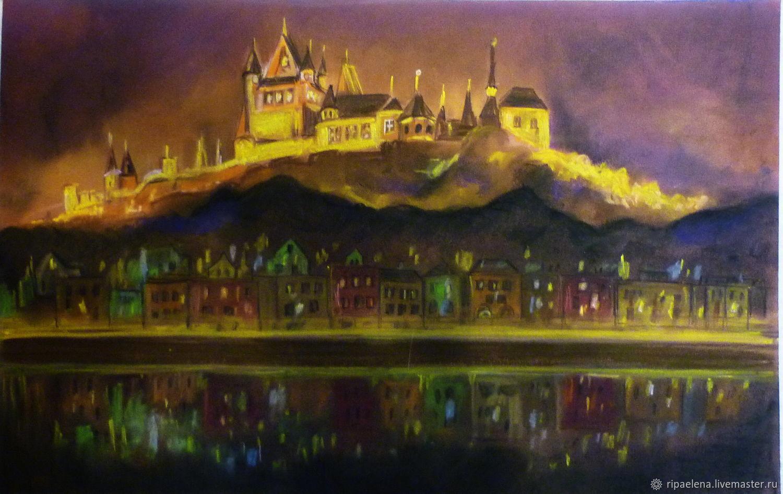Животные ручной работы. Ярмарка Мастеров - ручная работа. Купить Замок Кохем. Handmade. Замок, картина в подарок, рейхсбург