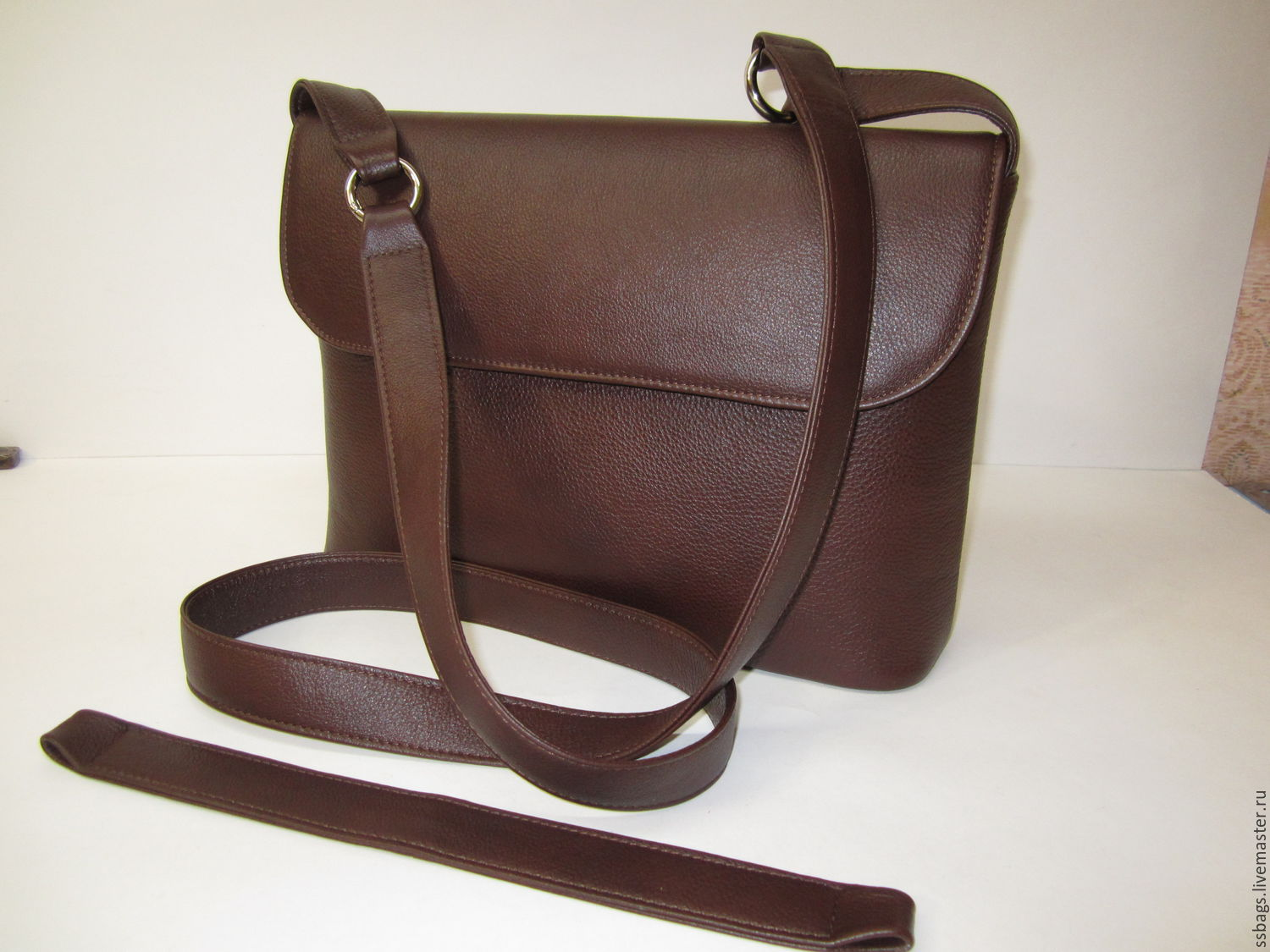 35d45c36aaa4 Handbags handmade. Lightweight carry bag with two strap myself. from cognac  Italian genuine leather ...