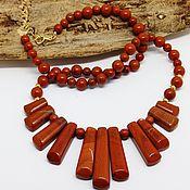 Украшения handmade. Livemaster - original item Necklace of red Jasper 52 cm. Handmade.