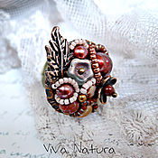 Украшения handmade. Livemaster - original item Ring Bordeaux Romantics. Handmade.