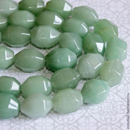 Для украшений ручной работы. Ярмарка Мастеров - ручная работа. Купить Нефрит 15 мм оливка граненая - бусины камни для украшений. Handmade.