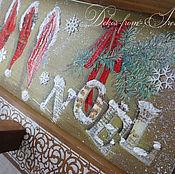 """Для дома и интерьера ручной работы. Ярмарка Мастеров - ручная работа -30% от цены Вешалка с полкой """"Рождество"""". Handmade."""