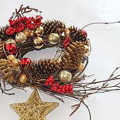 Подарки к праздникам ручной работы. Ярмарка Мастеров - ручная работа Венок новогодний. Handmade.