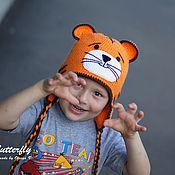 Работы для детей, ручной работы. Ярмарка Мастеров - ручная работа Шапка Тигренок, Тигр. Handmade.