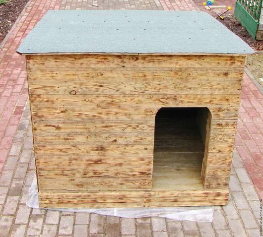 Аксессуары для собак, ручной работы. Ярмарка Мастеров - ручная работа. Купить Будка утепленная для крупной собаки. Handmade. Натуральное дерево