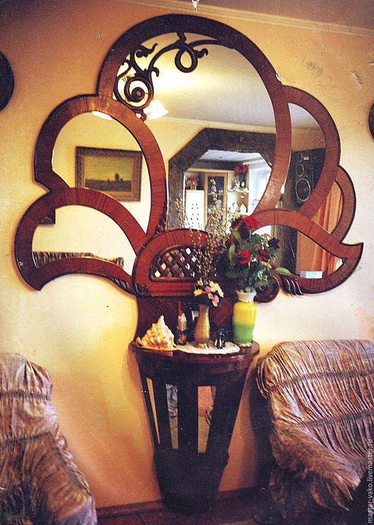 Зеркала ручной работы. Ярмарка Мастеров - ручная работа. Купить Рама для зеркала в форме цветка.. Handmade. Коричневый, рама для зеркала