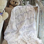 Для дома и интерьера ручной работы. Ярмарка Мастеров - ручная работа Плед крестильный для малыша. Handmade.