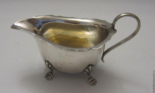 Винтажная посуда. Ярмарка Мастеров - ручная работа. Купить Соусник античный.. Handmade. Серебряный, винтаж, кухня, серебро