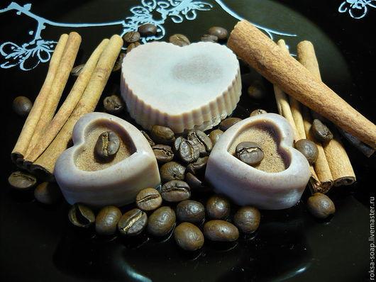 """Массажные плитки ручной работы. Ярмарка Мастеров - ручная работа. Купить Масляная плиточка для тела """"Какао с корицей"""". Handmade."""