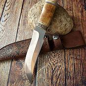 """Средний нож в кожаных ножнах  """"Пират"""""""