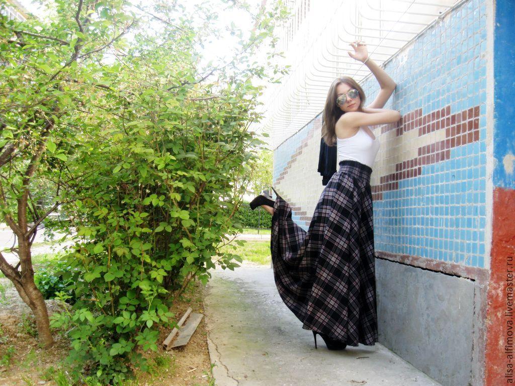 Skirt in tartan floor 'Lelechka-2', Skirts, Tashkent,  Фото №1