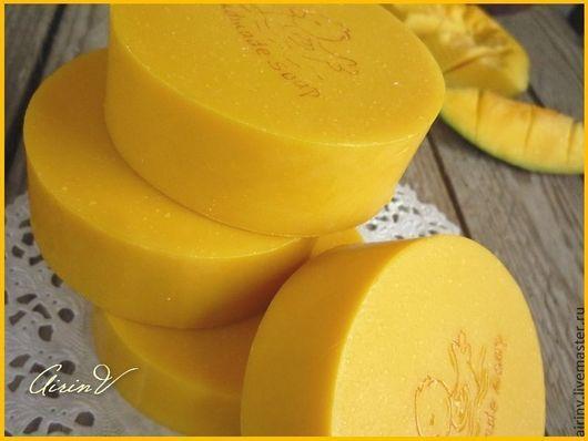 """Мыло ручной работы. Ярмарка Мастеров - ручная работа. Купить """"КАСТИЛЬСКОЕ МАНГО"""" (детское) натуральное мыло с нуля. Handmade. Желтый"""