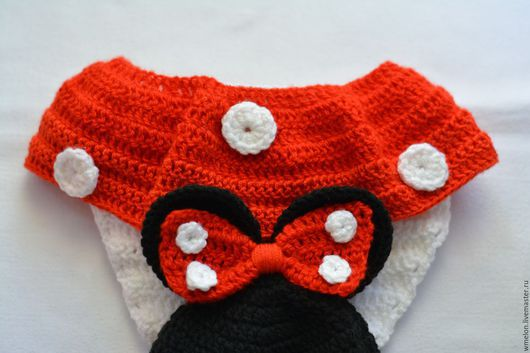 """Для новорожденных, ручной работы. Ярмарка Мастеров - ручная работа. Купить Комплект для фотосессии """"Минни Маус"""" (шапочка и трусики с юбочкой). Handmade."""