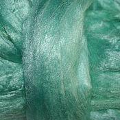 Материалы для валяния ручной работы. Ярмарка Мастеров - ручная работа Волокна вискозы 25 гр. Мята Волокна для декора валяние. Handmade.