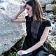 Платья ручной работы. Ярмарка Мастеров - ручная работа. Купить Платье FALL/WINTER 2014-15. Handmade. Черный, платье в пол