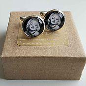 Украшения handmade. Livemaster - original item Cufflinks silver plated Marilyn Monroe. Handmade.