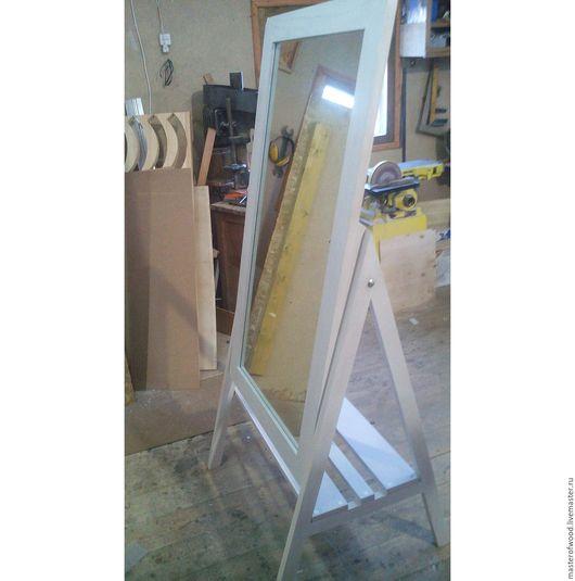 Зеркала ручной работы. Ярмарка Мастеров - ручная работа. Купить Зеркало напольное. Handmade. Белый, зеркало ручной работы, бук