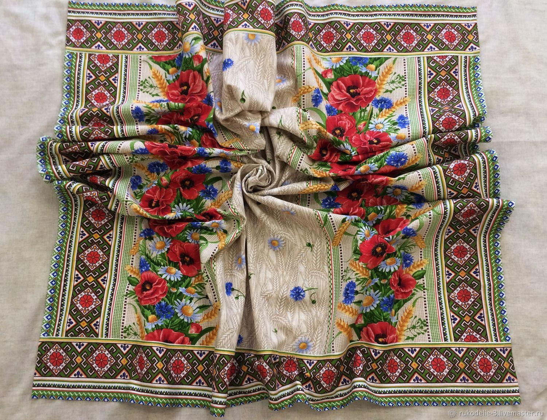 Скатерть прямоугольная 151х180 см №2 Маки ручной работы, Скатерти, Балашиха,  Фото №1