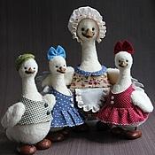 Куклы и игрушки ручной работы. Ярмарка Мастеров - ручная работа Гусиная семейка.. Handmade.