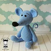 Материалы для творчества handmade. Livemaster - original item Master-class on how to crochet a toy mouse Mytsyk. Handmade.