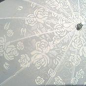 Свадебный салон ручной работы. Ярмарка Мастеров - ручная работа Зонт, форма Сердце, с росписью (белый). Handmade.