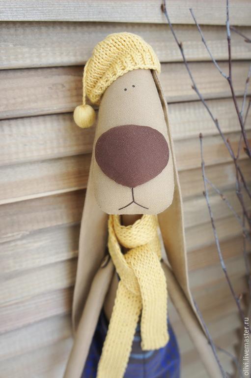 Игрушки животные, ручной работы. Ярмарка Мастеров - ручная работа. Купить Текстильный заяц. Handmade. Заяц, Заяц в подарок