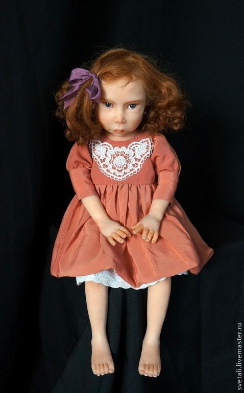Коллекционные куклы ручной работы. Ярмарка Мастеров - ручная работа. Купить ЖАННА 50см. Handmade. Рыжий, коллекционная кукла, генезис