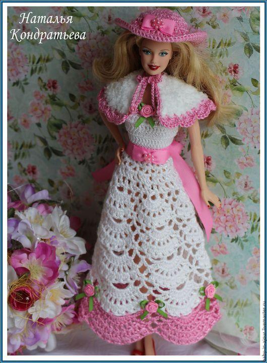 Одежда для кукол ручной работы. Ярмарка Мастеров - ручная работа. Купить Наряд для куклы. Handmade. Комбинированный, шляпка для куклы, хлопок