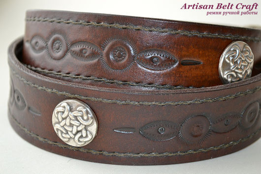 Ремень кожаный ручной работы by Artisan Belt Craft