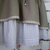 Одежда handmade. Livemaster - original item Linen skirt with podobnikar. Handmade.