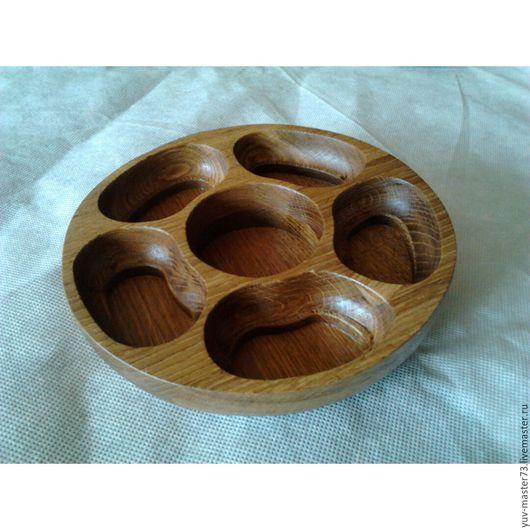 Тарелки ручной работы. Ярмарка Мастеров - ручная работа. Купить тарелочка под орешки (менажница). Handmade. Коричневый, посуда, клей