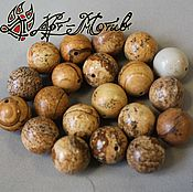 Материалы для творчества handmade. Livemaster - original item Landscape Jasper beads, 12 mm beads smooth (natural stone). Handmade.