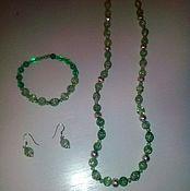 Украшения handmade. Livemaster - original item Long Earrings beads necklace bracelet pendant Snow quartz multi-colored. Handmade.