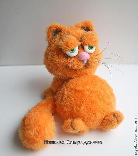 Игрушки животные, ручной работы. Ярмарка Мастеров - ручная работа. Купить кот Гарфилд. Handmade. Вязаная игрушка, котик, вязаный