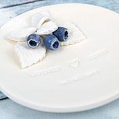 """Свадебный салон ручной работы. Ярмарка Мастеров - ручная работа Тарелочка для колец """"Голубика"""" 59. Handmade."""