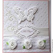 Открытки ручной работы. Ярмарка Мастеров - ручная работа открытка к свадьбе. Handmade.
