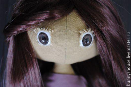 Куклы тыквоголовки ручной работы. Ярмарка Мастеров - ручная работа. Купить Кукла текстильная. Handmade. Фиолетовый, кукла в подарок