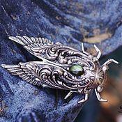 Украшения handmade. Livemaster - original item Ring silver Cicada Labradorite beetle blue prom. Handmade.