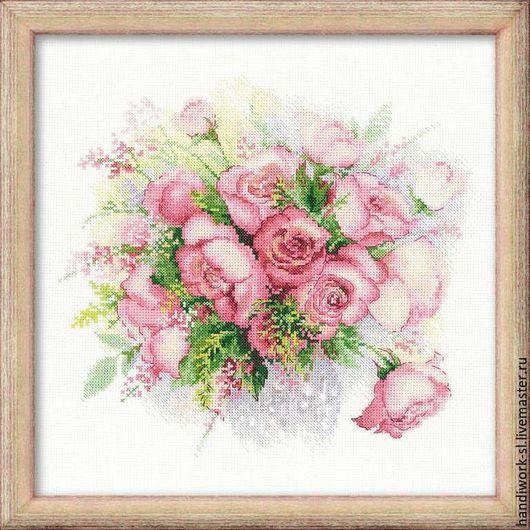 Акварельные розы  набор для вышивания крестиком   риолис 1335