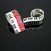 Украшения handmade. Livemaster - original item Muse ring in 925 sterling silver and enamel. Handmade.