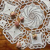 Для дома и интерьера ручной работы. Ярмарка Мастеров - ручная работа Салфетка молочного цвета из мотивов. Handmade.