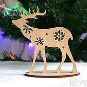 Сувениры и подарки handmade. Livemaster - original item Christmas wooden deer. Handmade.