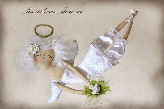 """Ароматизированные куклы ручной работы. Ярмарка Мастеров - ручная работа. Купить """"Ангел весны"""" - авторская кофейная куколка. Handmade. Ангел"""